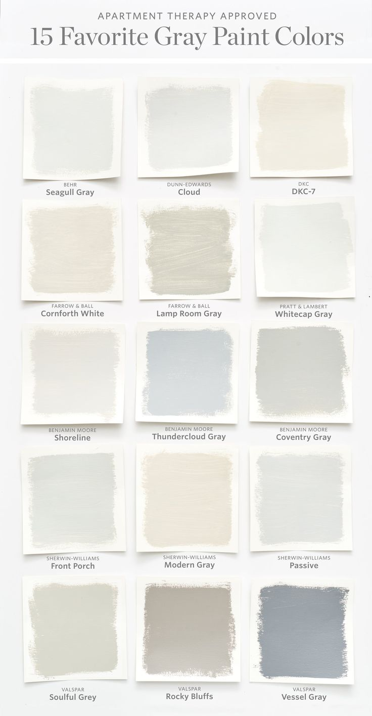 Color Cheat Sheet: The 15 Most Perfect Gray Paint Colors