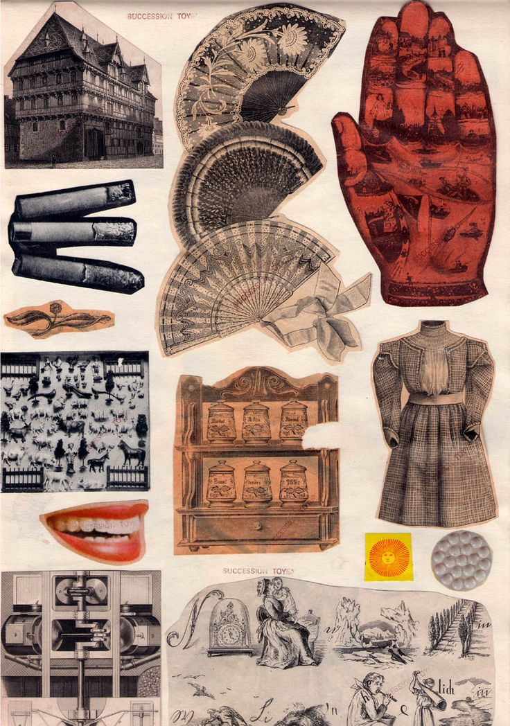 Toyen (Marie Cerminova)   (1902-1980)  Sans Titre (Untitled) double sided collage on paper, circa 1960