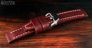 Curele de ceas, din piele, handmade. Topouzelli Straps.: Curea de ceas, handmade, T 853