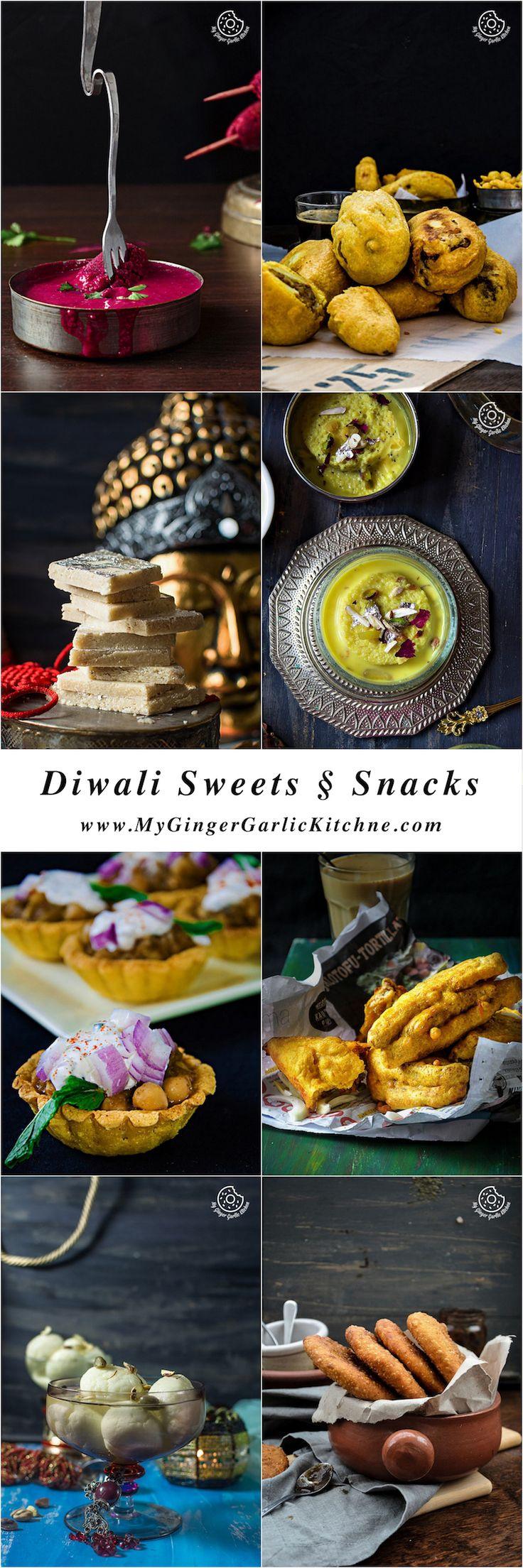 Diwali Sweets and Snacks Recipes | mygingergarlickitchen.com/ @anupama_dreams