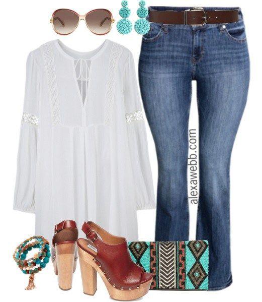 Plus Size Boho Outfit - Plus Size Fashion for Women - Alexa Webb - alexawebb.com #alexawebb