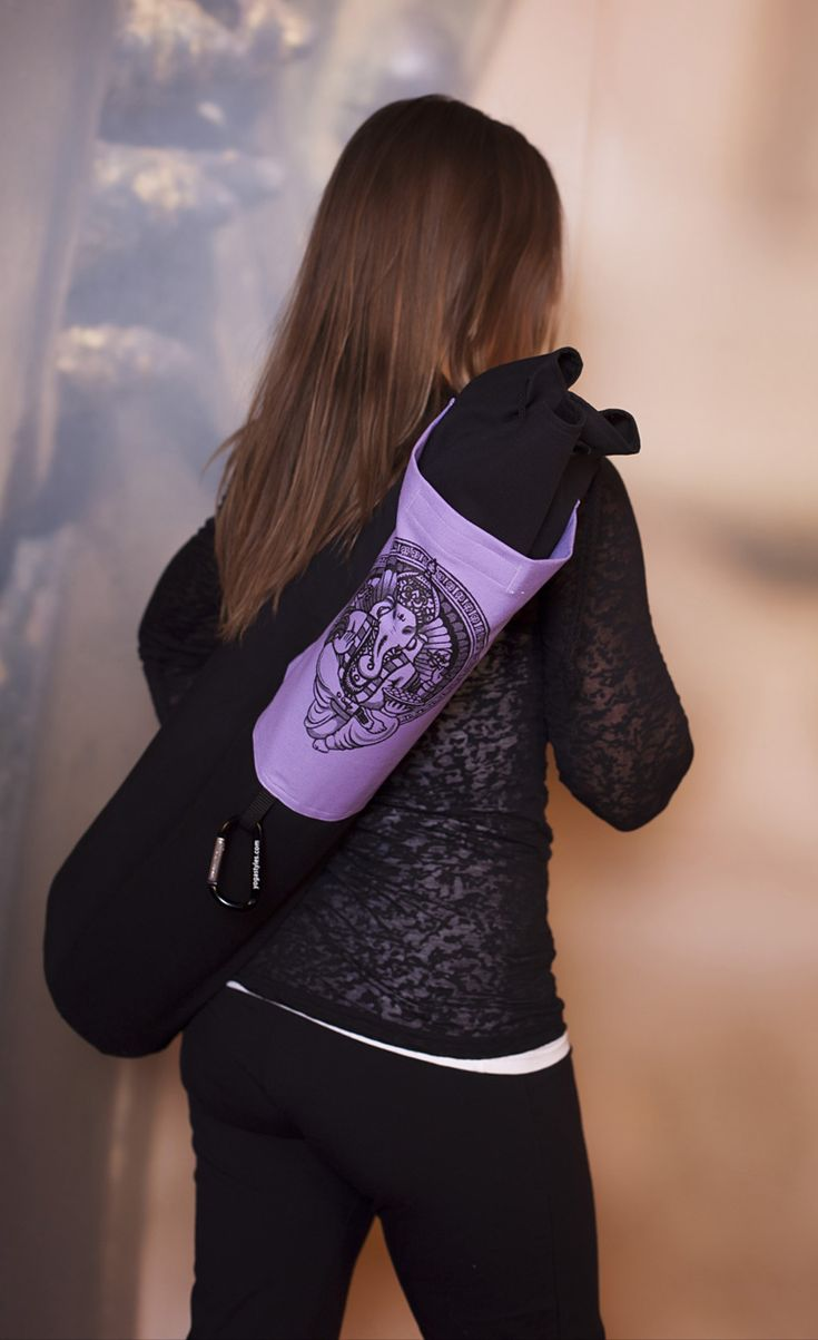 Ganesha Yoga Mat Bag Extra-Large www.downdogboutique.com  #YogaBags #YogaAccessories #Yoga