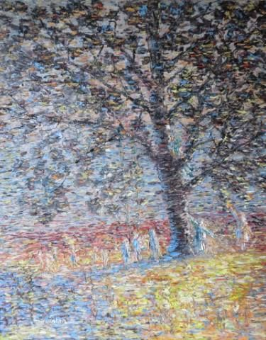 "Landscape Impressionism Artwork by Chris Quinlan - 20"" x 16""oil painting on canvas - quinlanart.com/116"