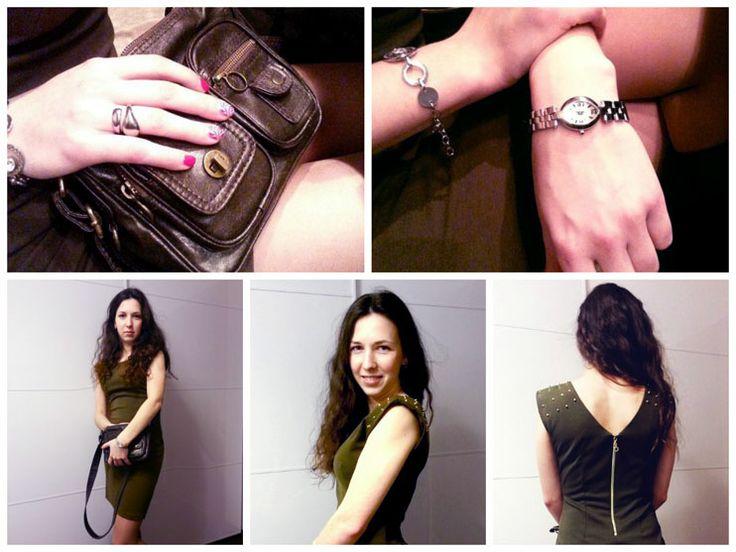 Платье: Akoz Сумка: Elle Часы: Noname Браслет: Noname Кольцо: Calvin Klein