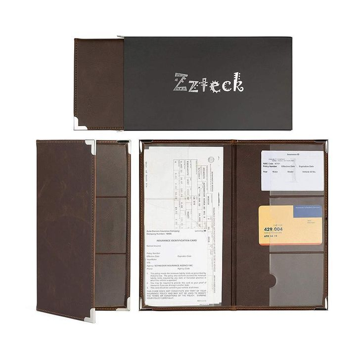 Zzteck License Plate Holder For Insurance Card Documents Auto