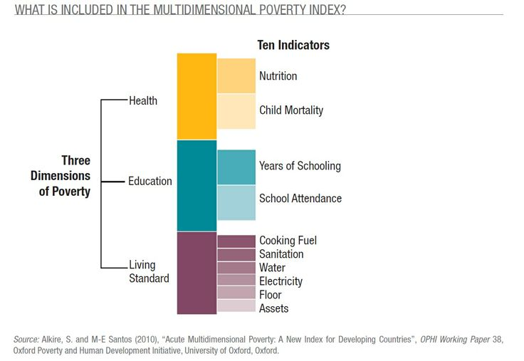 What is included in the multidimensional poverty index?