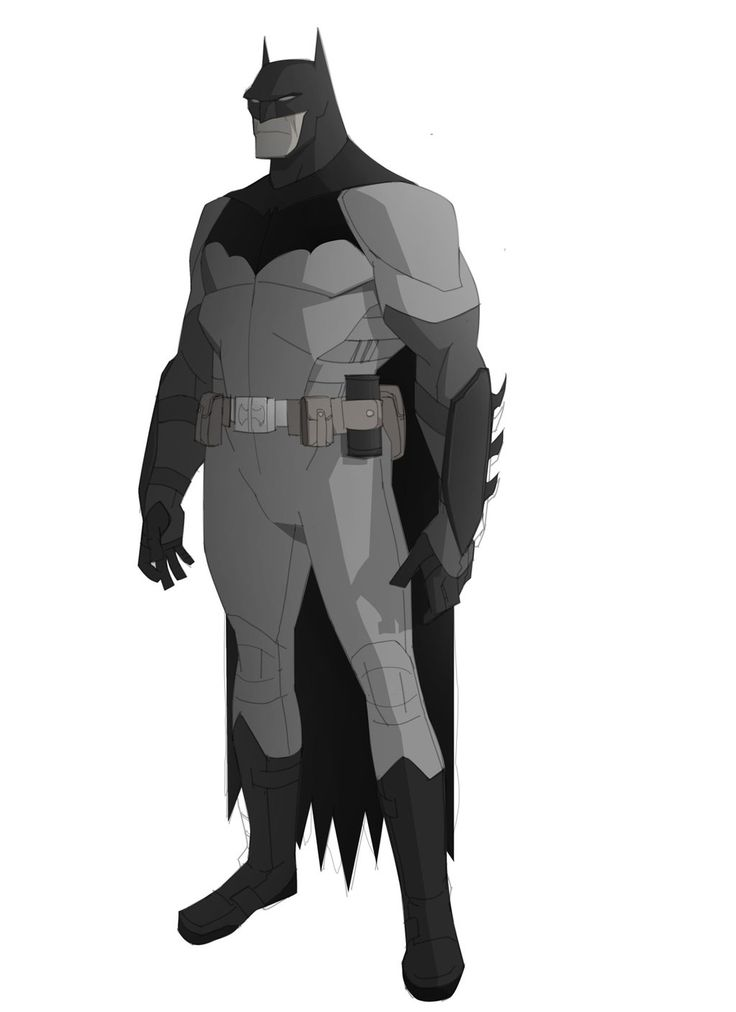 "character design for ""Dark as hell,"" animated Batman series that never happened"