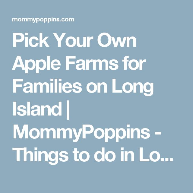 Pick Your Own Apple Farms for Families on Long Island | MommyPoppins - Things to do in Long Island with Kids