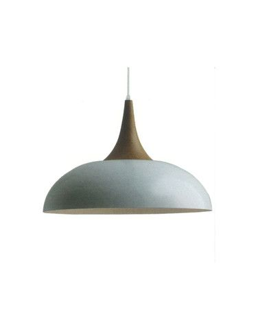 $199 chicchandeliers.com.au The Brindisi White and Wood Pendant Light features a stunning white shade with sleek wooden top.