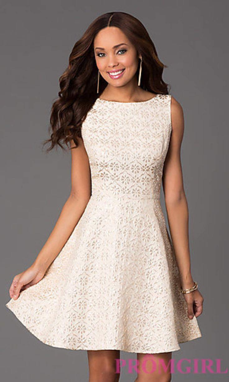 Short Sleeveless Floral Print Dress by Jessica Simpson