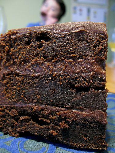 dense chocolate cake... aka the best chocolatey cake you'll ever eat! ~my favourite chocolate cake recipe ever~