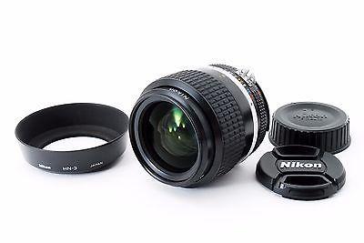 (#3418) Nikon Ai-s Nikkor 35mm f/1.4 Wide Angle Lens w/ HN-3 Hood Excellent