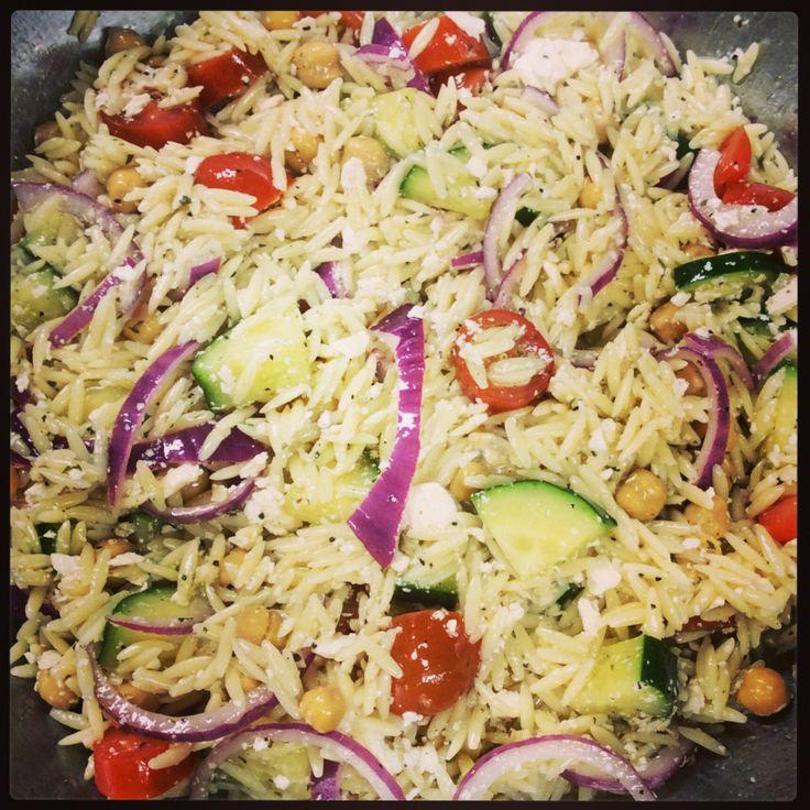 Orzo Pasta Salad freshly made at Java Jive in Hannibal, MO.