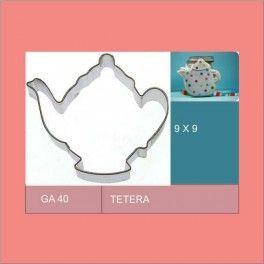 Categoría: Cortantes Metalicos Galletas - Producto: Cortante Metal Tetera - Ga40 - Envase: Unidad - Presentación: X Unid. - Marca: Flogus