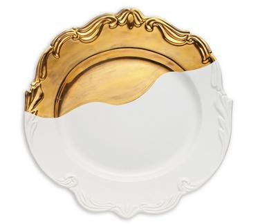 Gorgeous Gold Dipped Platter - perfect as tableware or a home accent