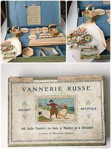 RARE Coffret Jeu 1920 VANNERIE RUSSE Paniers A Monter Basket Set Antique Game | eBay