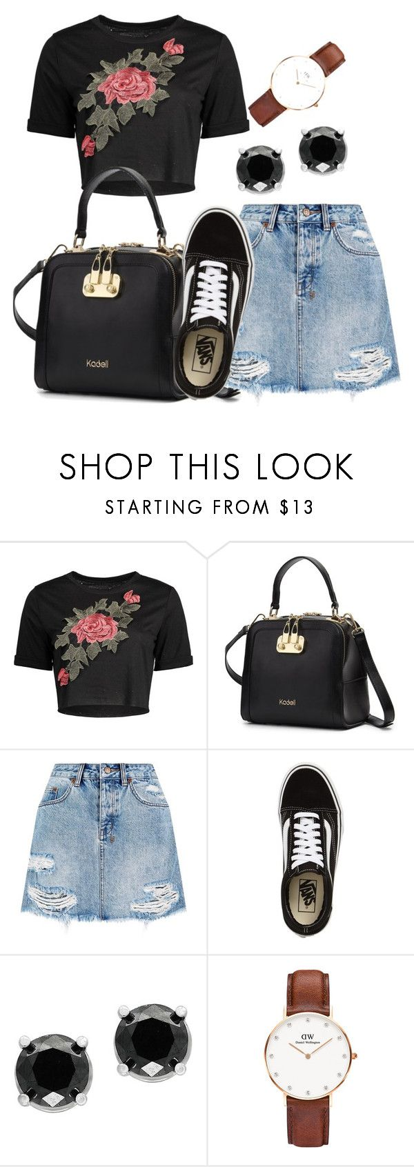 """""""Remi"""" by lucycouture17 on Polyvore featuring Ksubi, Vans, Effy Jewelry and Daniel Wellington"""