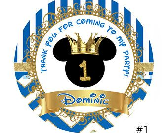 Royal Blue Gold Prince Mickey Mouse Birthday Baby Shower