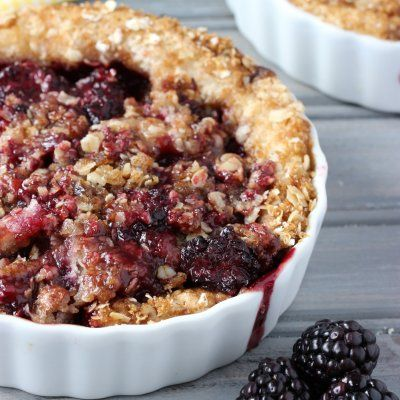Irish Blackberry Crumble Cake by Deb Attinella