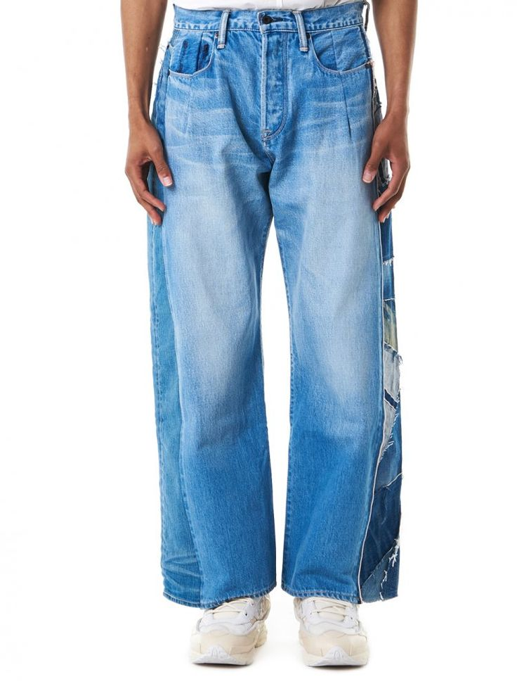 KURO DENIM - Loose-Fit Patchwork Jeans - 961802-ASSORT - H. Lorenzo