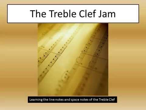 Treble Clef Song.  Pitch reading