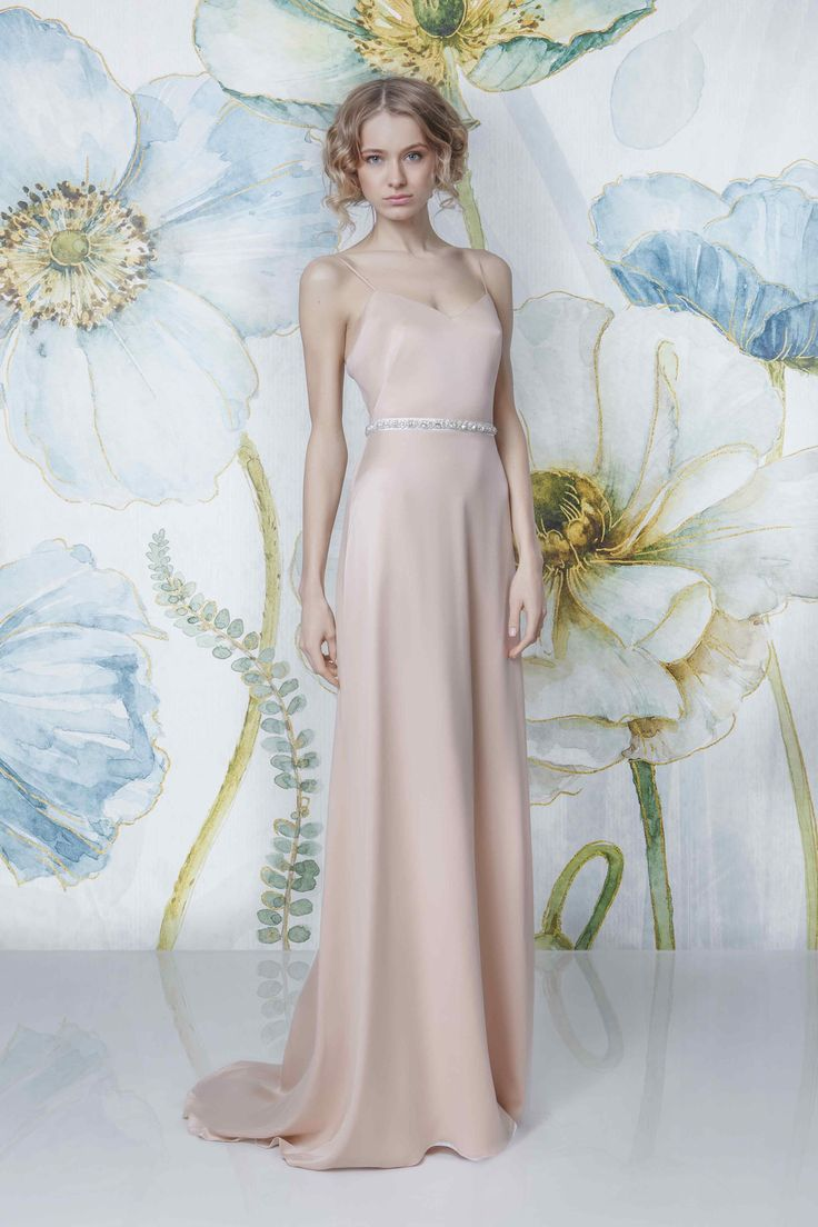 CARA nude   Sadoni Bridal 2018 - CARA nude suede satin dress; as a base for tops or as an underdress for transparent lace dresses. Available also in all creme - www.sadoni.no