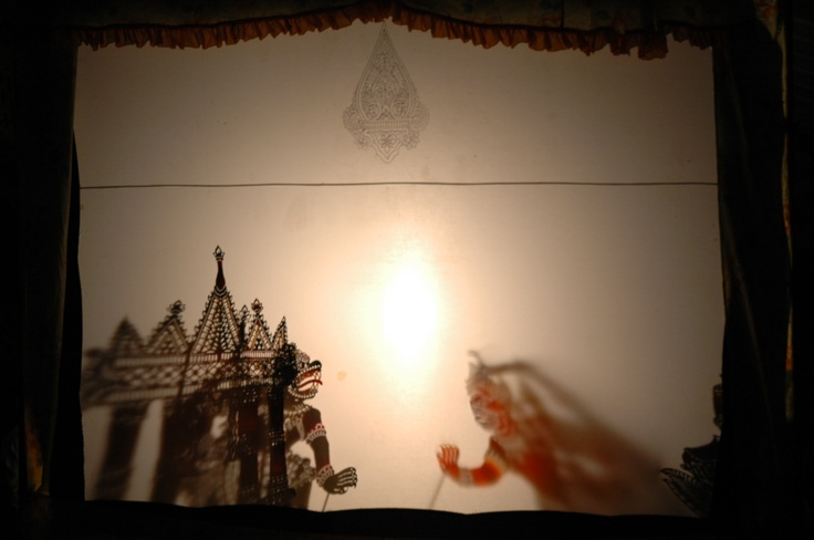 shadow puppet play in progress. #Malaysia