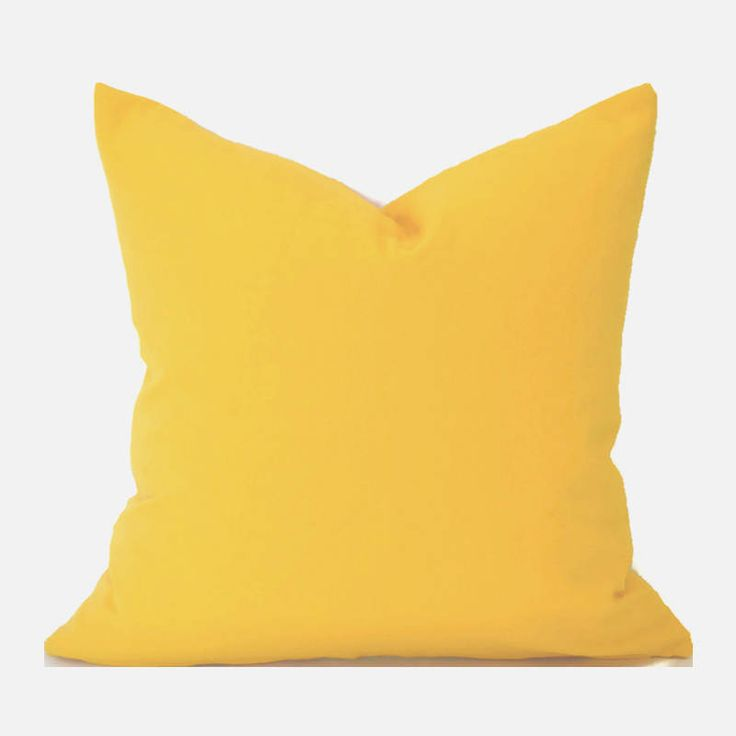 Pillow Covers ANY SIZE Decorative Pillows Yellow Pillows Premier Prints Cotton Canvas Solid Yellow