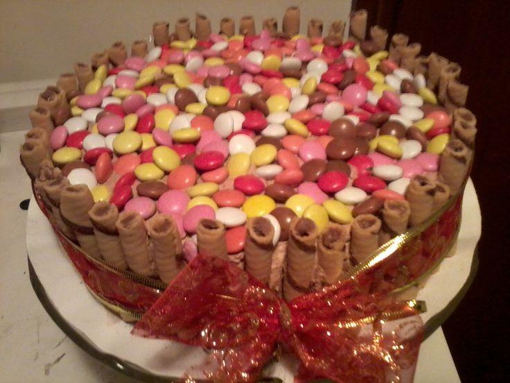 karácsonyi cukordrazsés torta