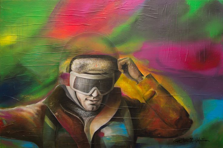 G POWER ©2017, acrylic on paper and canvas 120 x 80 x 2 cm - 47.28 x 31.52 x 0.78 in Serie: 30/Trentesimi  Keywords: acrylic, painting, person, portrait, canvas, color, GaeTano & Valentina, SCENOGRAPH2ART, figurative, male, man, mode