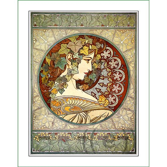 fabric panel - painting by Alphonse Mucha (7)