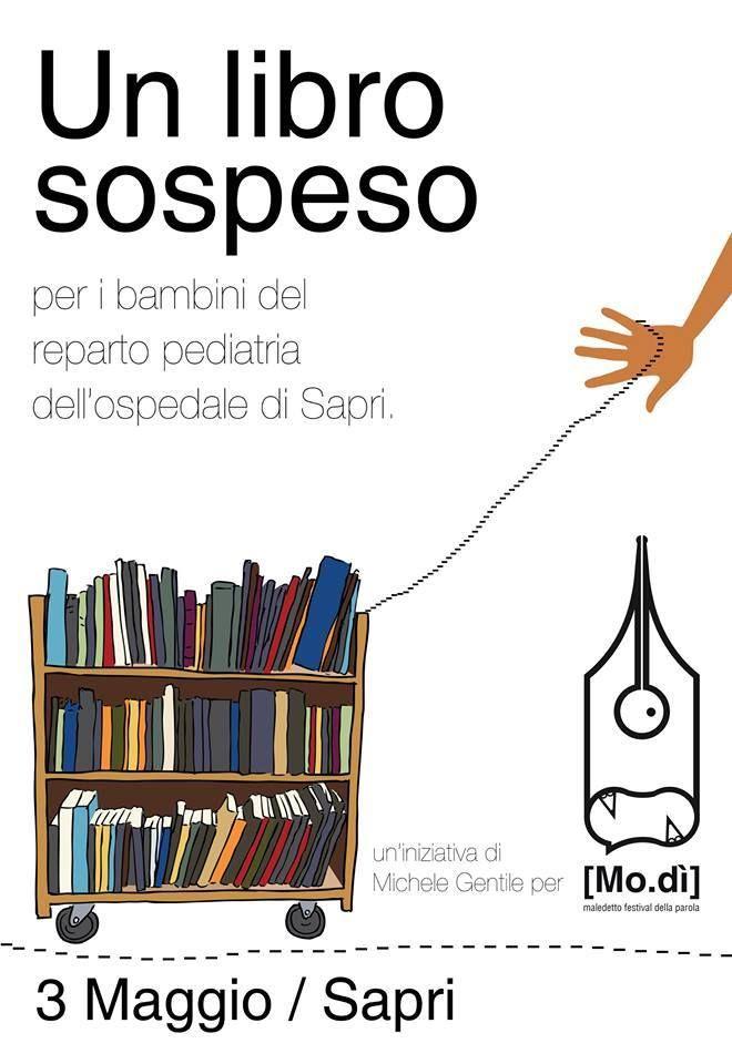 il 3 Maggio vi aspettiamo con la magia del LibroSospeso, doneremo libri ai bambini del rep. Pediatrico dell'Ospedale di Sapri...Vi aspettiamo