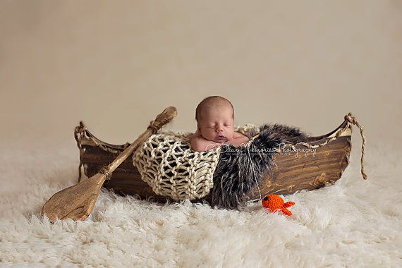 Canoe Prop DOUBLE SIDED Boat Prop Newborn by MrAndMrsAndCo on Etsy