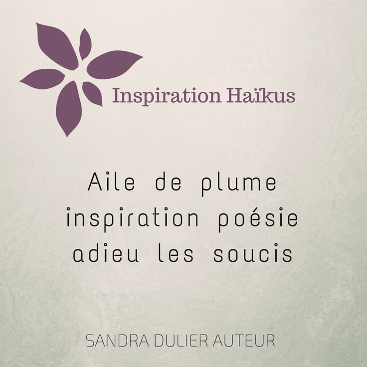 Inspiration haïkus