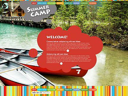 Summer Camp Website Templates by Mercury
