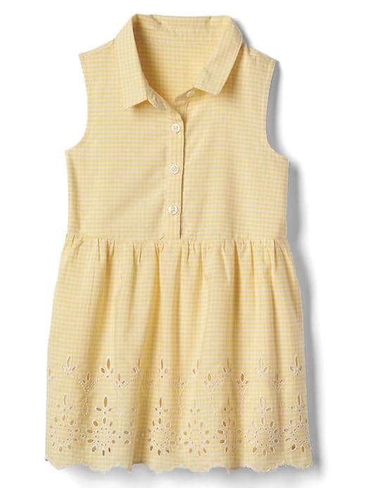 Yellow eyelet dress toddler