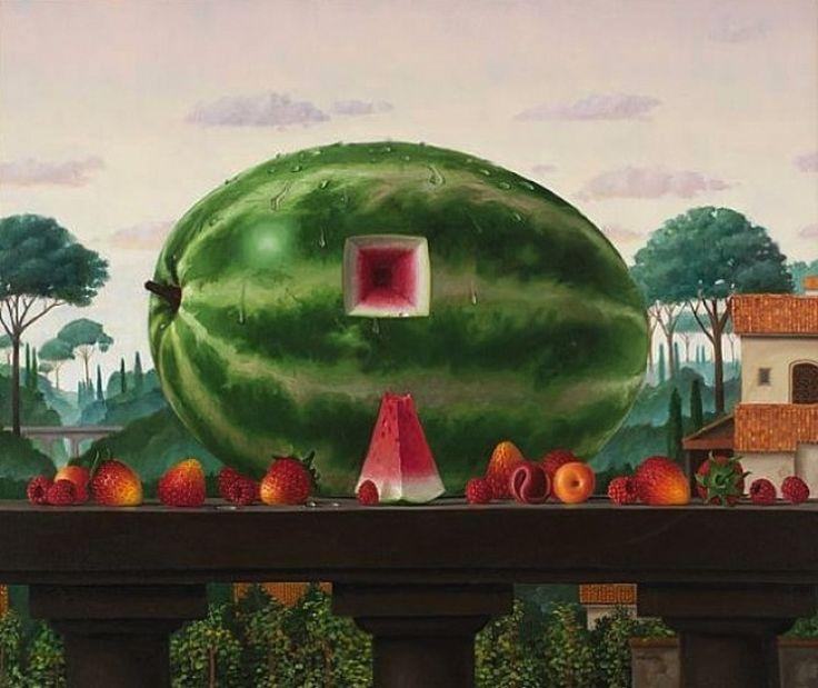 james aponovich still life with watermelon 2008