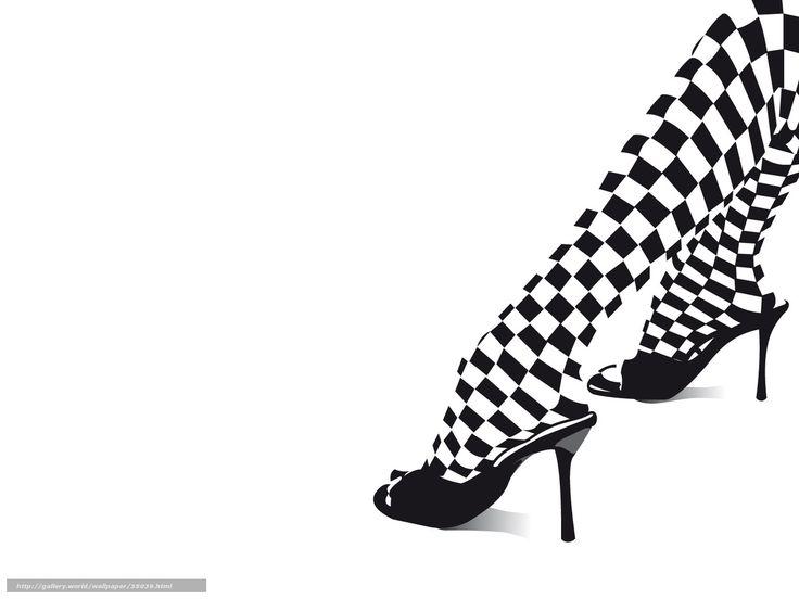 scaricare gli sfondi gambe, in bianco e nero, tacchi Sfondi gratis per la risoluzione del desktop 1600x1200 — immagine №35039