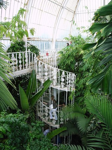 The Palm House (1844-8) by Decimus Burton and Richard Turner, Kew Gardens, London