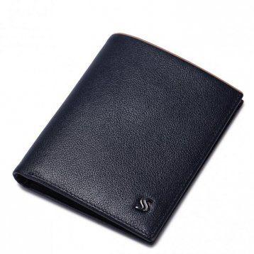 Wysokiej klasy krótki męski portfel Niebieski