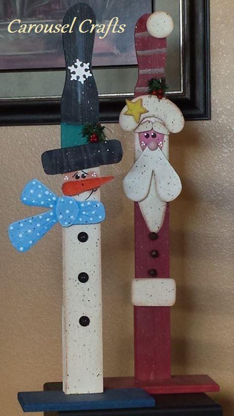tall wooden santa 1