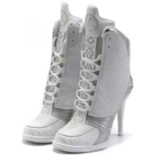 http://www.asneakers4u.com/ Nike Air Jordan 23 High Heels White Grey