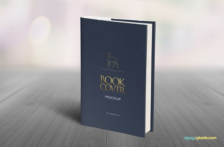 Vertical standing hardcover book mockup showing front cover design.