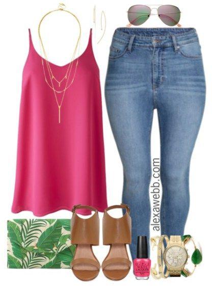 Plus Size Outfit Idea - Plus Size Fashion for Women - Plus Size Jeans - AlexaWebb.com #alexawebb