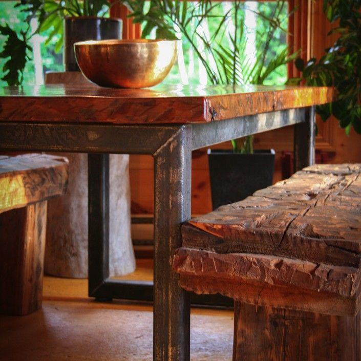 Table d ner espace bois inc bois de grange - Table a diner en bois ...