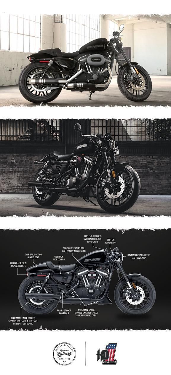 Garage-built custom style to shatter every mold.   2017 Harley-Davidson Roadster