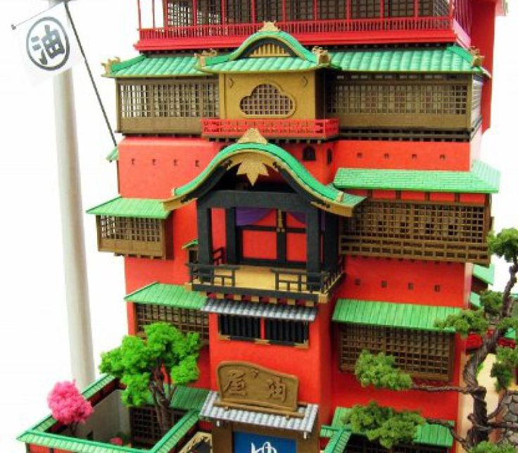 Spirited Away Bathhouse Paper Craft