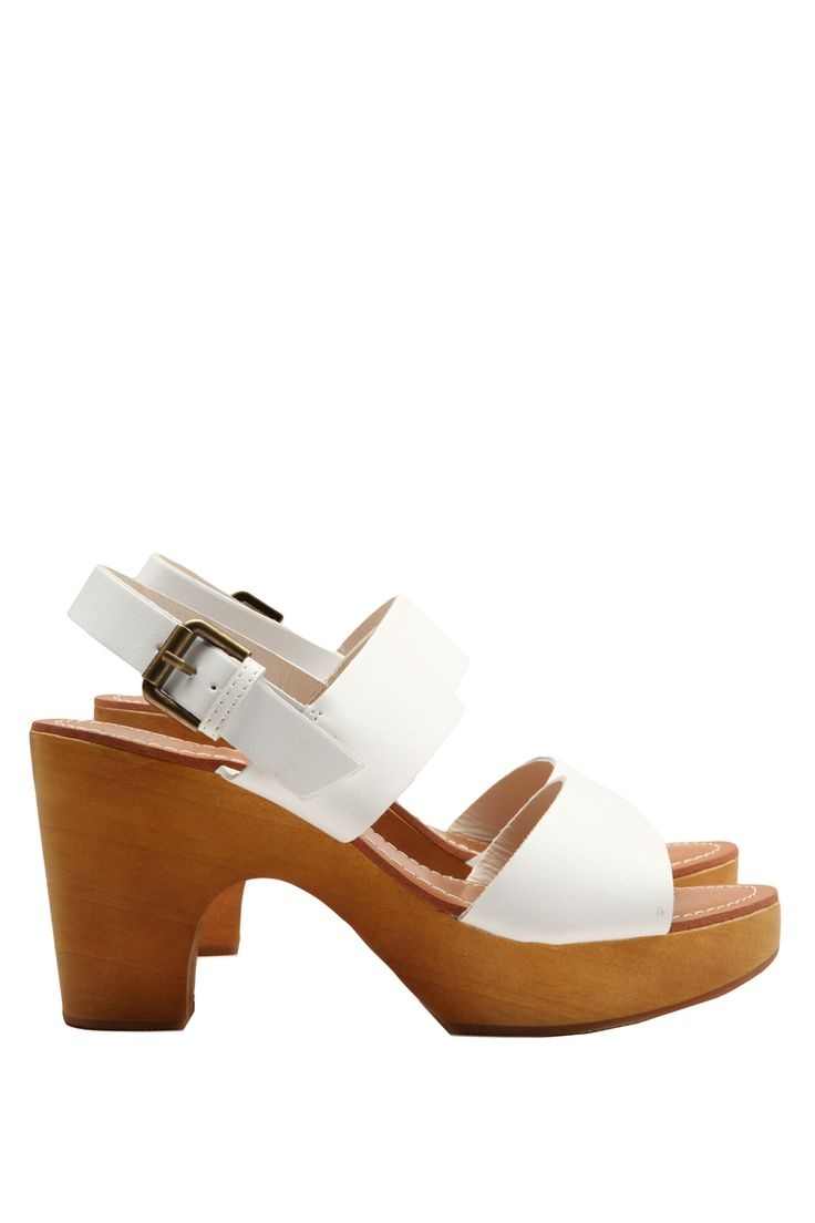 White sandals rubi shoes - Palm Springs Heel Cotton On