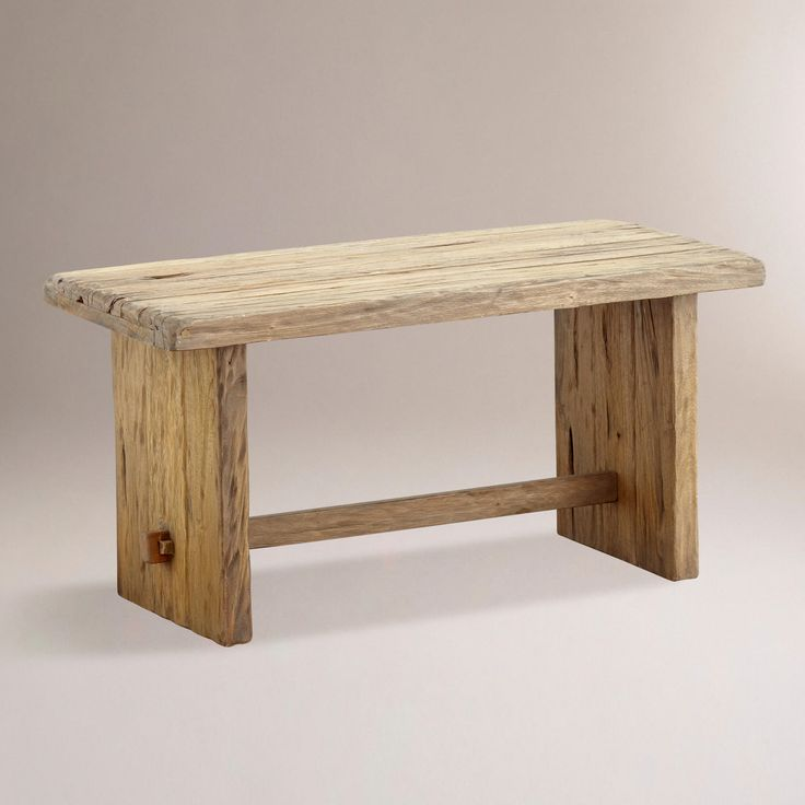 Aged Wood Wood Benches And World Market On Pinterest