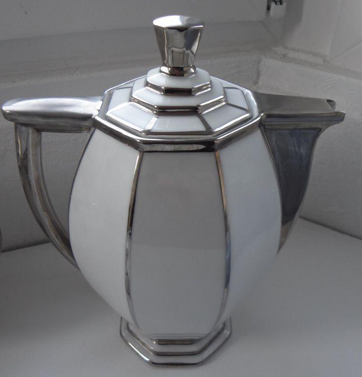 SERVICE THE - CAFE, ART DECO porcelaine LIMOGES,CHARLES AHRENFELDT argenture | Céramiques, verres, Céramiques françaises, Limoges | eBay!